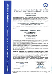 TÜV SÜD - Structural Metallic Products - Certificate No. 0948-CPR-0153